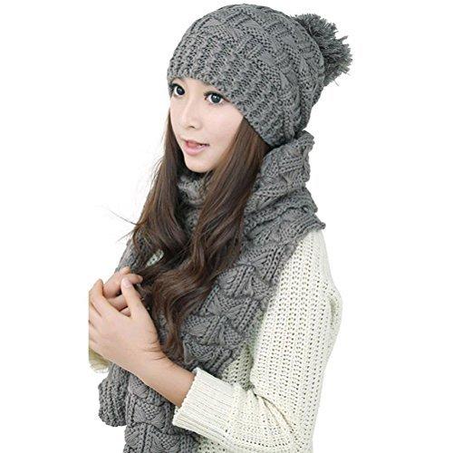 Leorx sciarpa cappello donna grigio