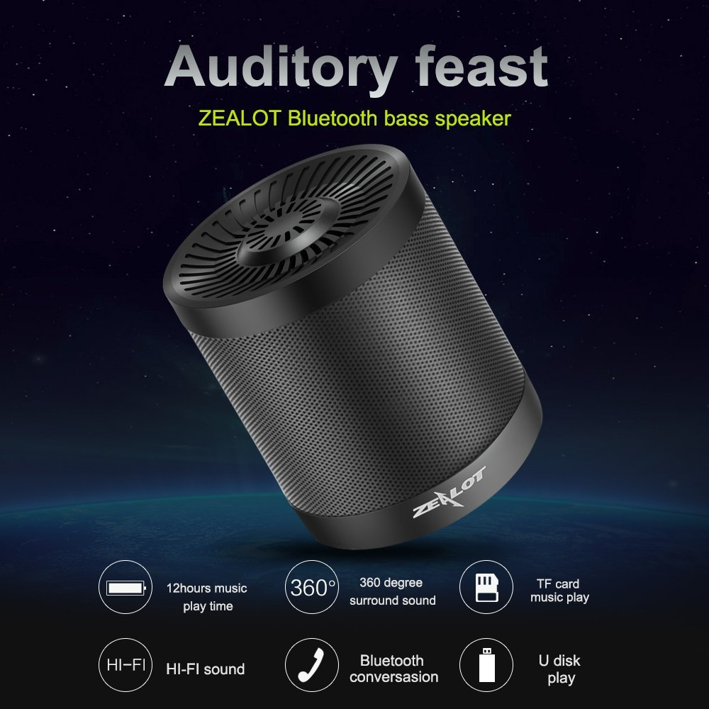 Zealot bluetooth bass speaker