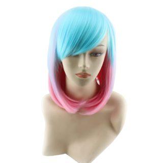 Parrucca economica rosa azzurra