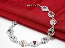 Bracciale argento gioielli donna zirconi pietre sintetiche