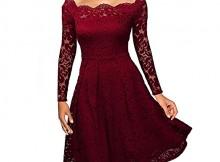 Nalati donna vestito pizzo merletto floreale