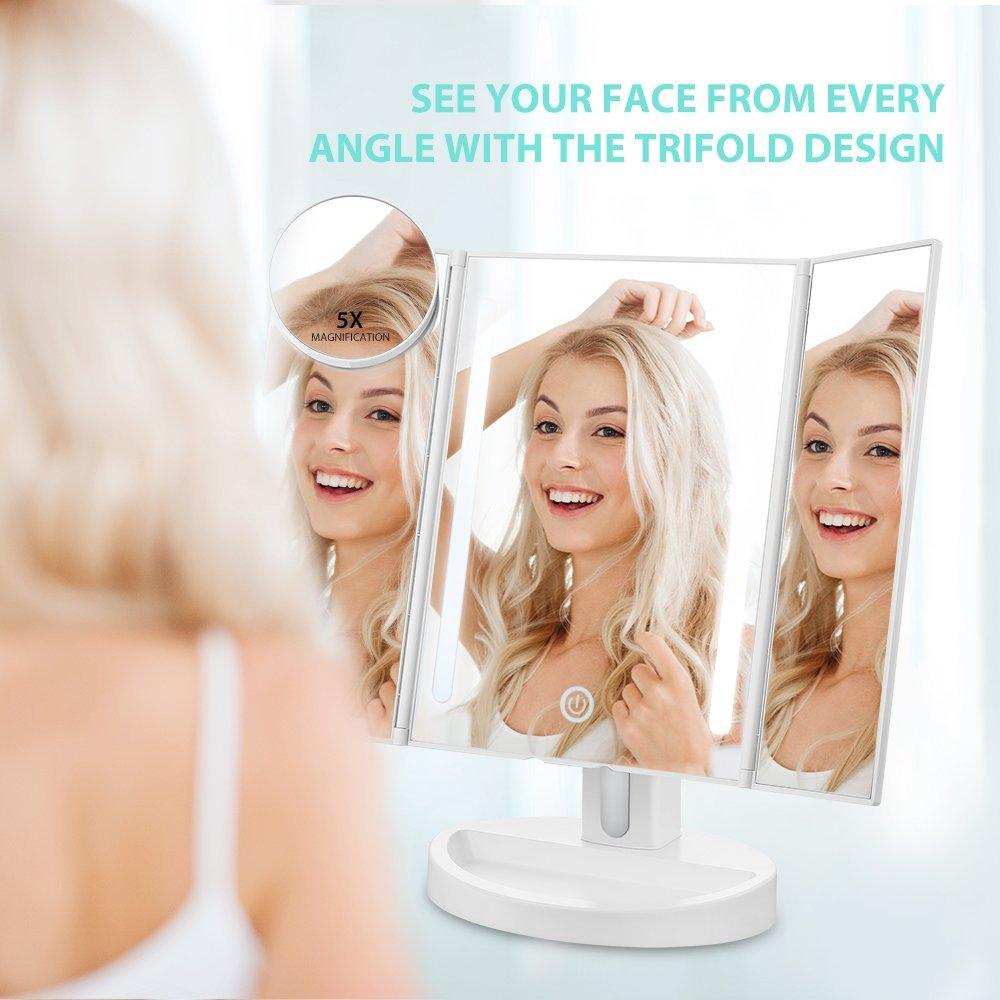 Specchio regolabile 180 usb