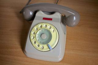 Telefono rotella grigio