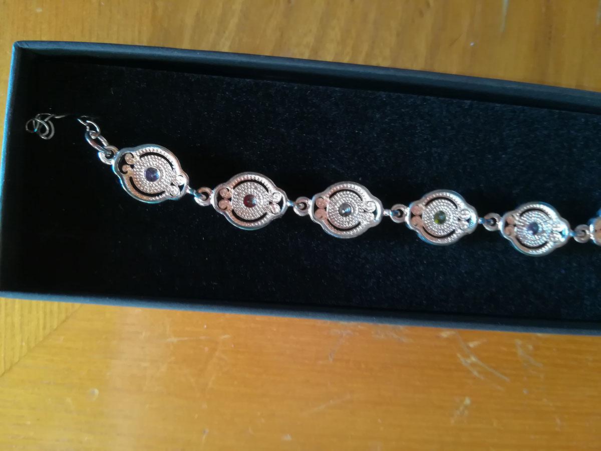 Opinione bracciale donna placcato in argento lucido con for Paris vendome gioielli